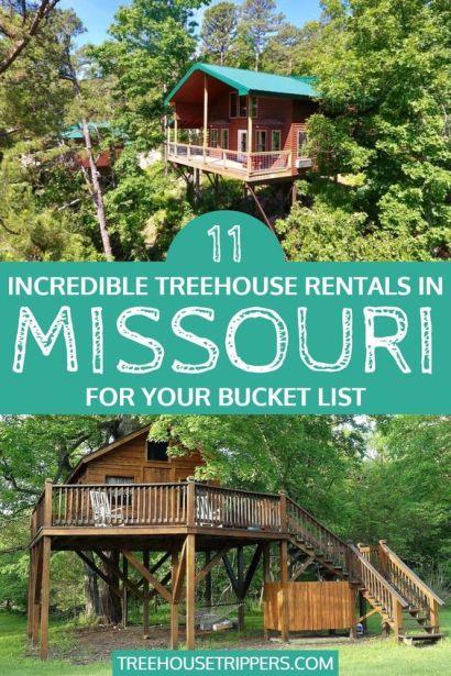 treehouse rentals in missouri - pinterest