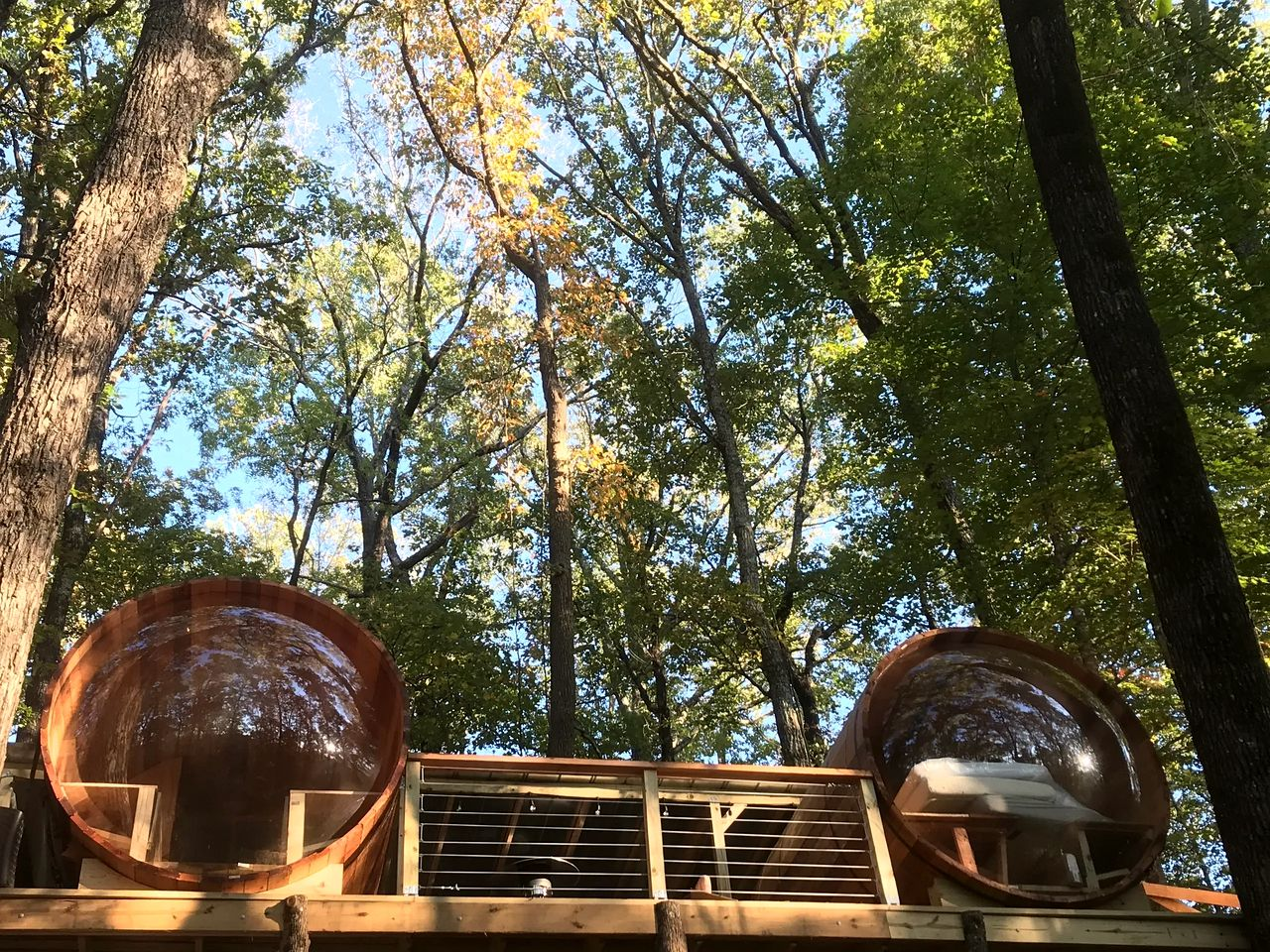 Eco-Friendly Tree House Pods for a Georgia Glamping Experience