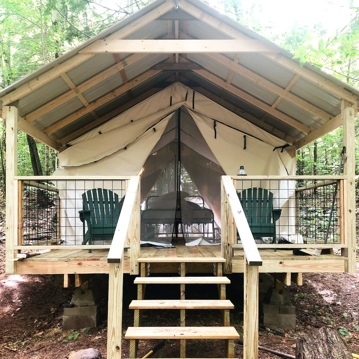 New Hampshire Glamping Tent