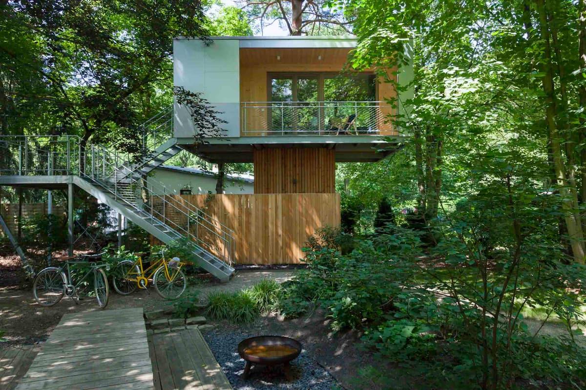 Treehouses in Germany Berlin urban lakefront