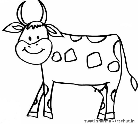 Cow Mask Coloring Page Sketch Coloring Page