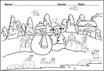 Free Winter Coloring Page worksheet by Swati Sharma