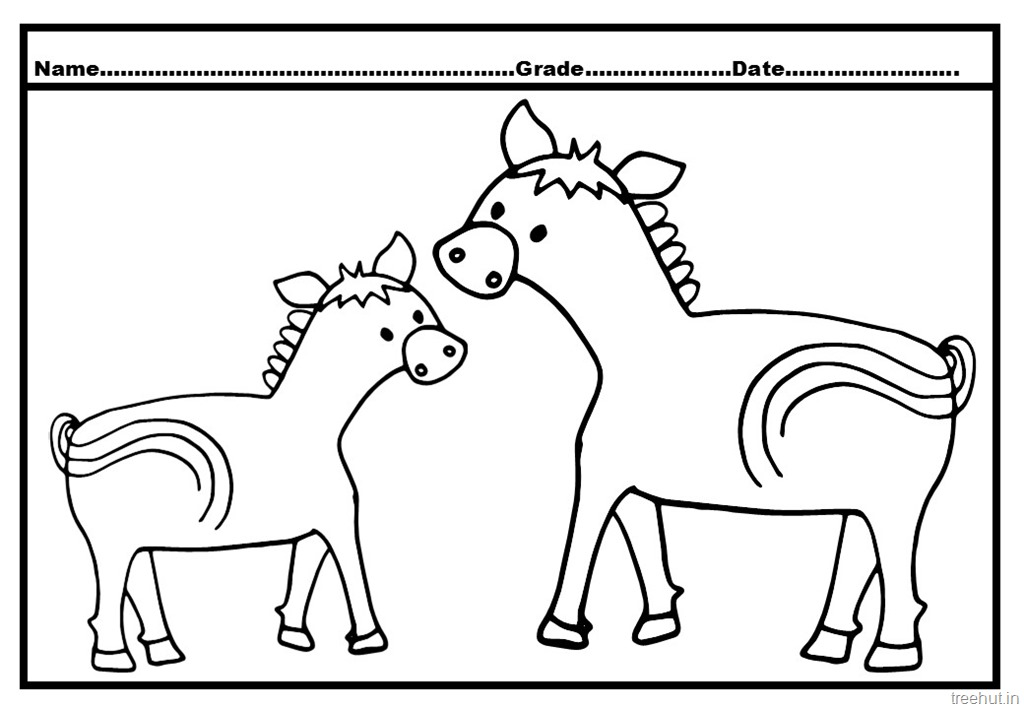 Horse and Foal Coloring Pages