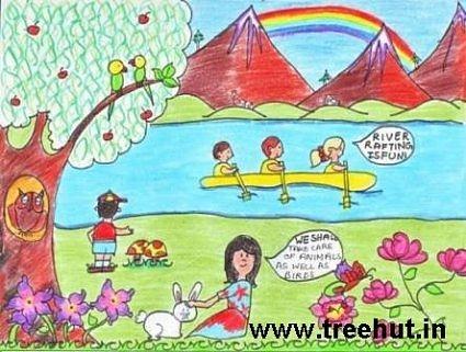 Jain Quotes Wallpaper Art Ideas By Grade 5 Kids Study Hall Lucknow