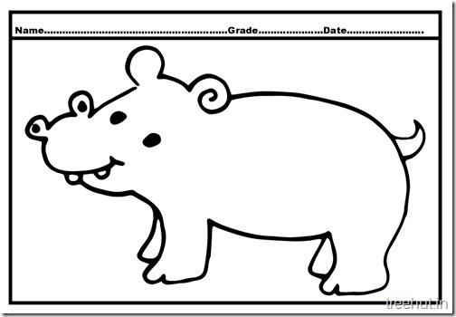 Hippopotamus Coloring Pages