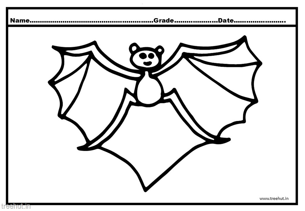 Bat Colouring Pages