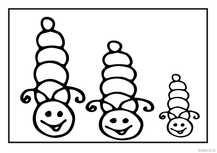 Cute Colour Wallpaper Cute Caterpillar Coloring Pages
