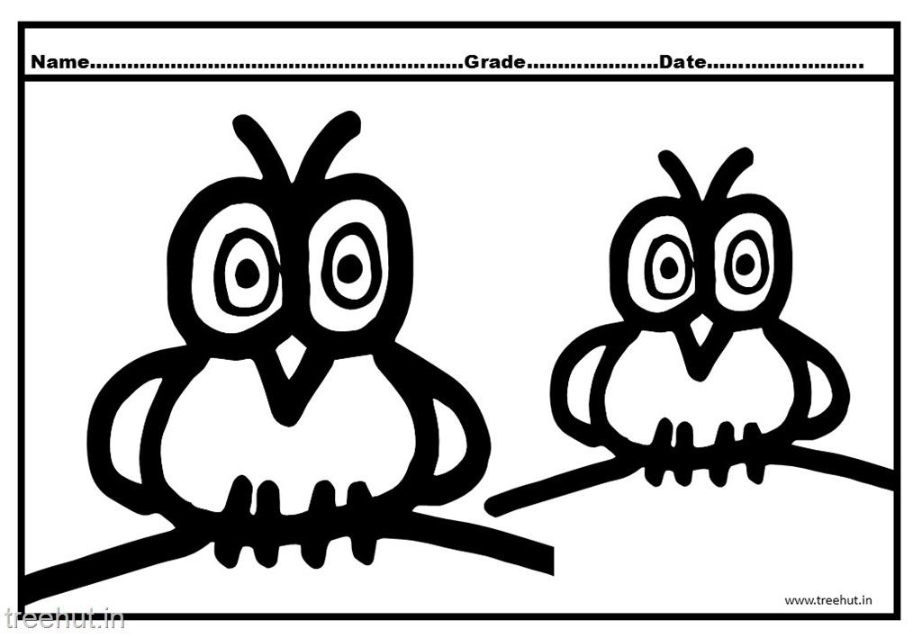 Owl Coloring Pages for Kindergarten Kids
