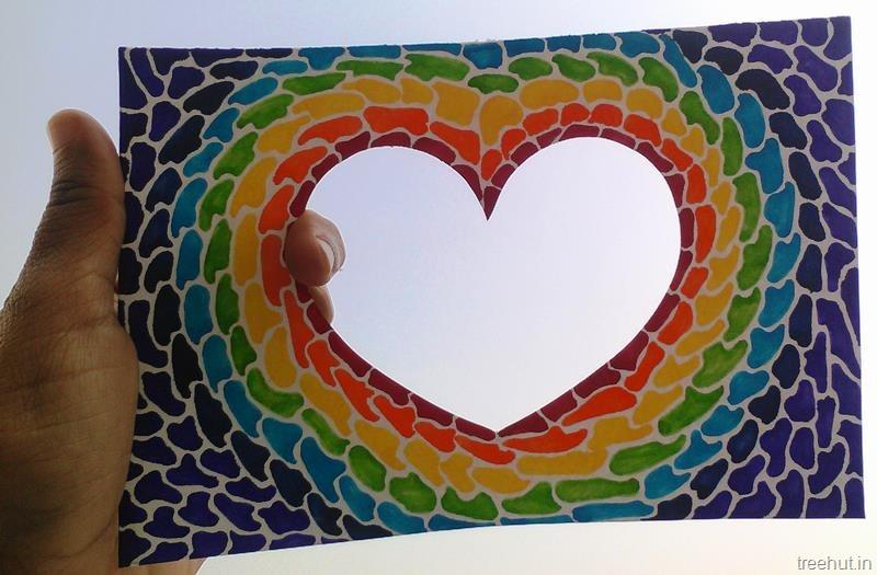 Yoga Quotes Wallpaper Paper Mosaic Art Heart Photo Frame