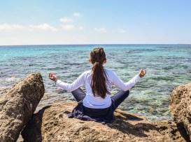 meditation sitting sea