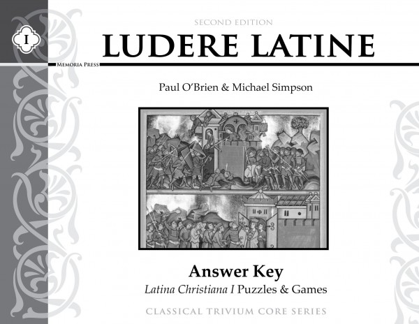 Ludere Latine, Answer Key