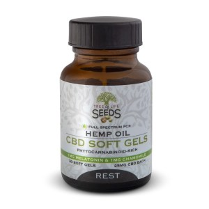 Tree of Life Seeds - Hemp Oil - CBD Soft Gels - REST - Melatonin - Chamomile - 25MG