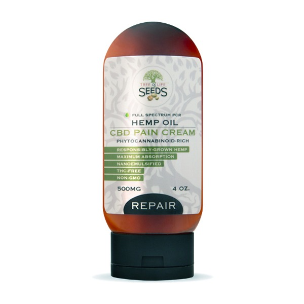 CBD Oil Pain Repair Cream Topical Tree of Life Seeds