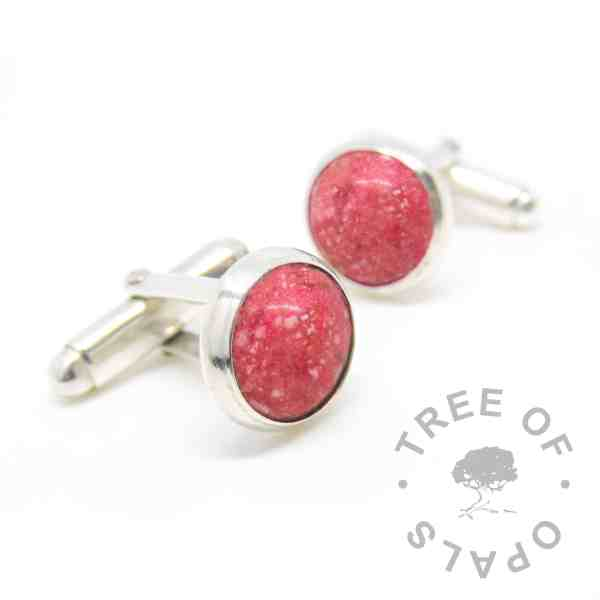 dragon's blood red cremation ashes cufflinks