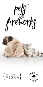 advice on pets and fireworks this bonfire night from Tree of Opals, landscape image advert
