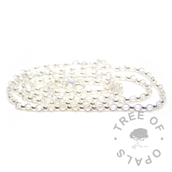 medium heavy weight chain in solid sterling silver Tree of Opals