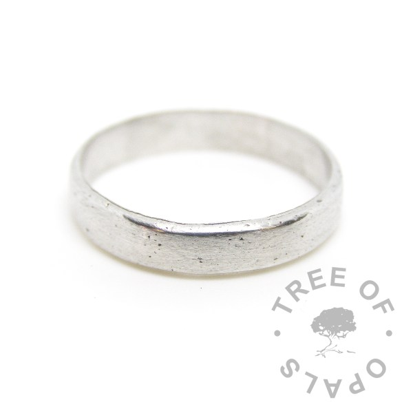 sterling silver metal clay cremation ash eternity band