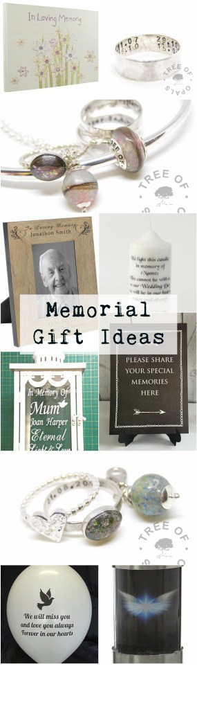 Memorial gift ideas from Tree of Opals to remember loved ones