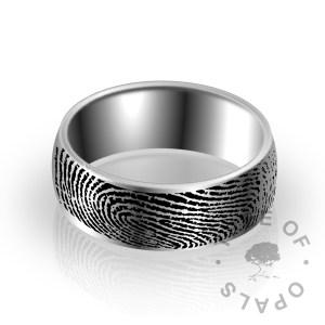 fingerprint engraving service on a ring