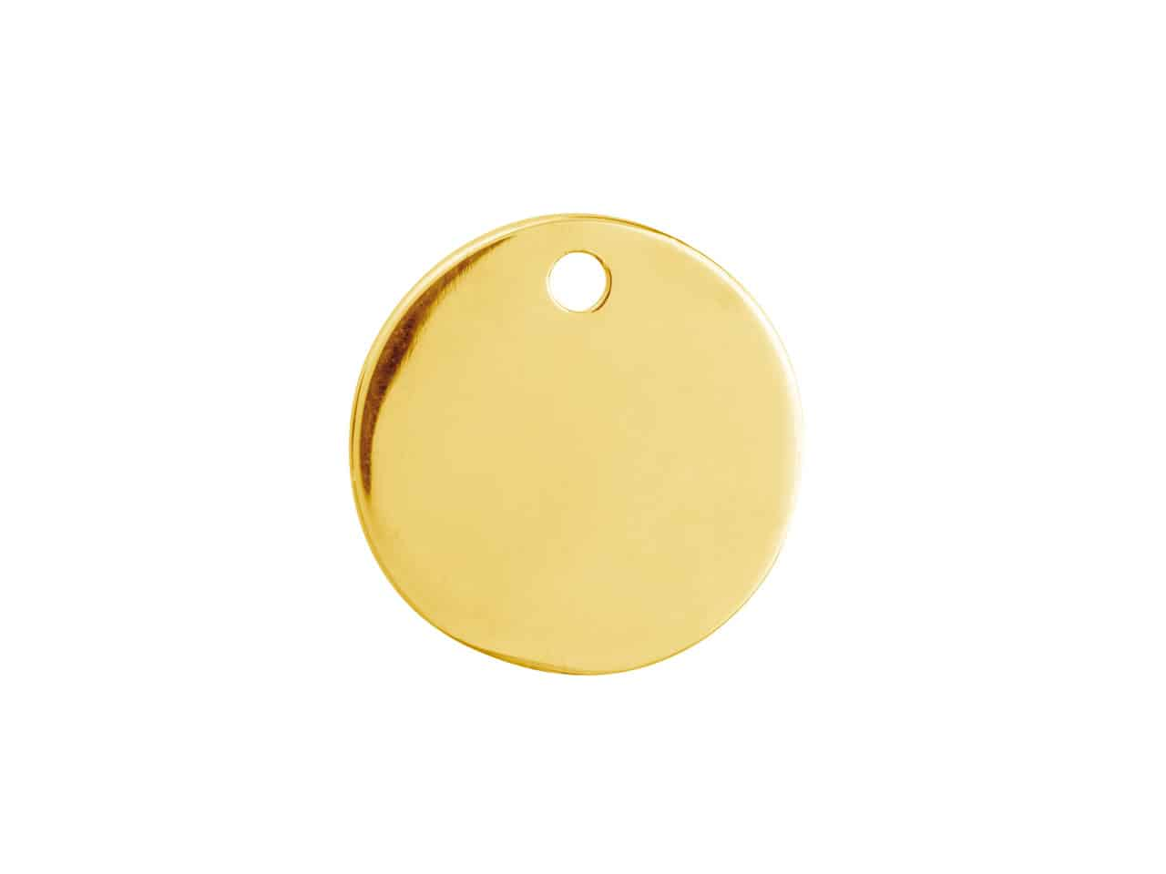 solid 9ct yellow gold disc for engraving
