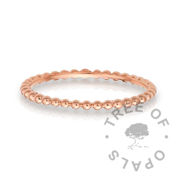 slim 14ct gold ring bubble wire band in solid rose gold