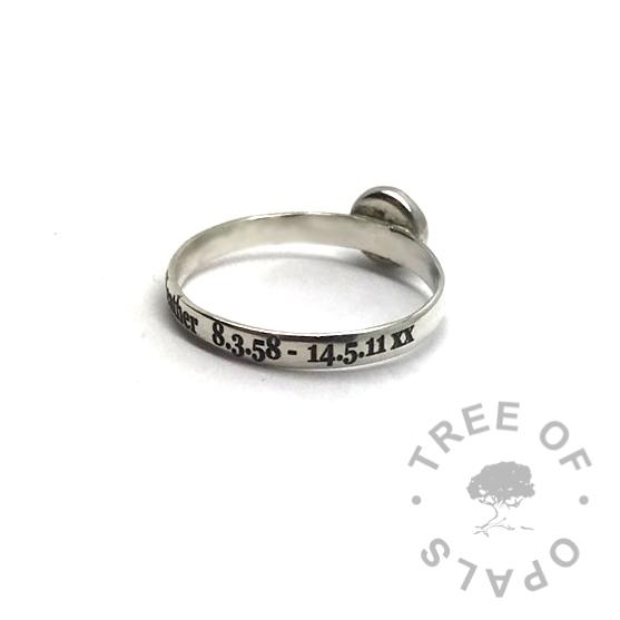 laser engraved ring
