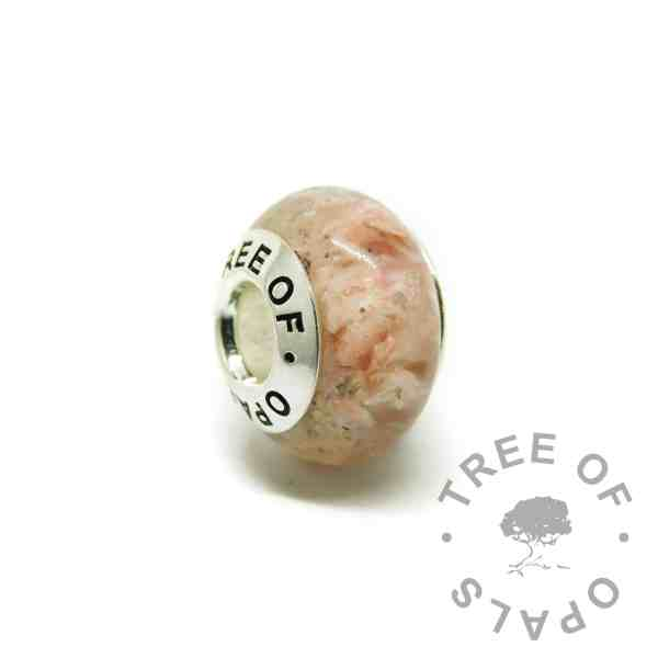 fairy pink cremation ashes charm
