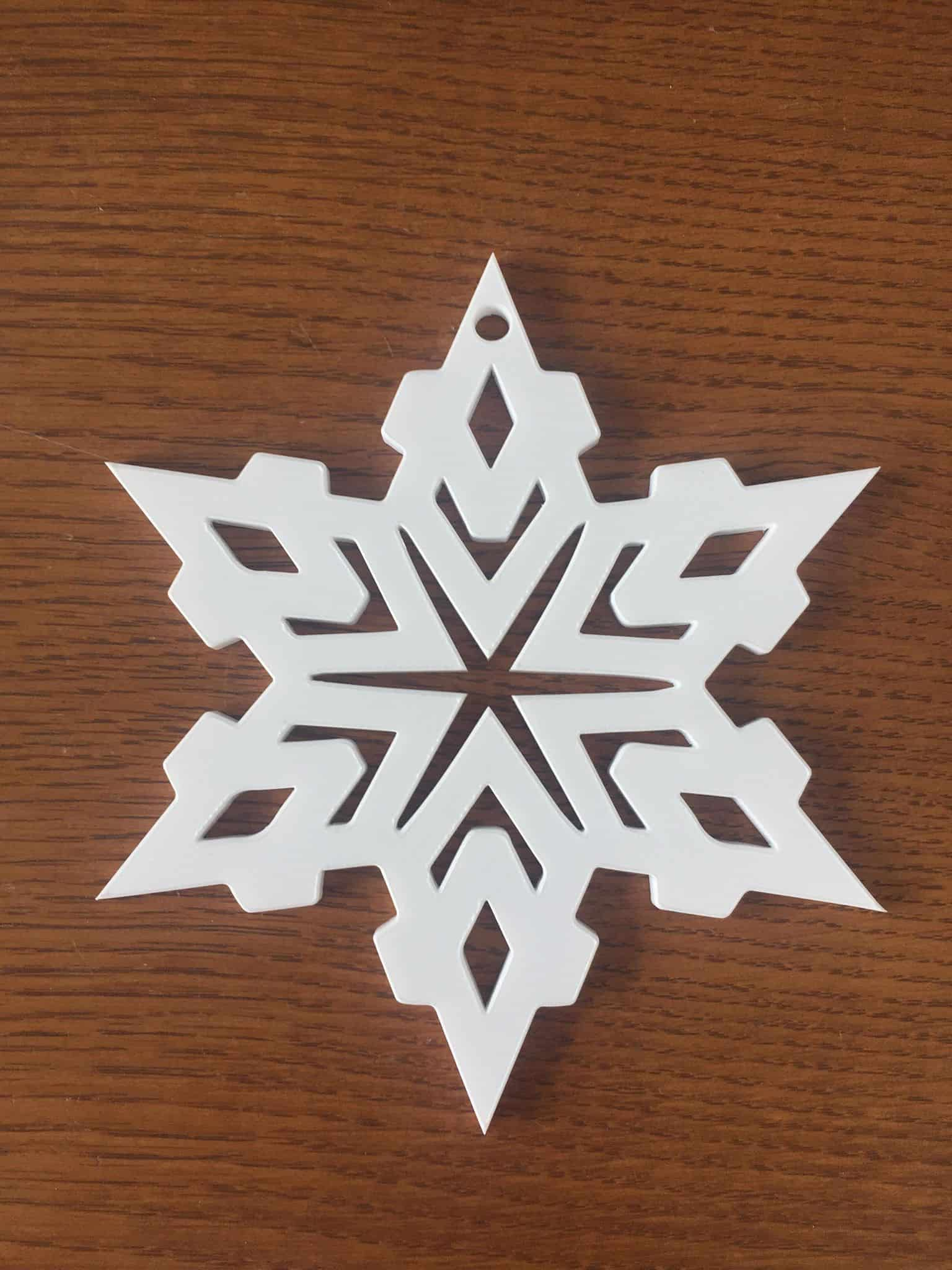 shape we're using for the 2019 Christmas Memorial Snowflake Ornaments