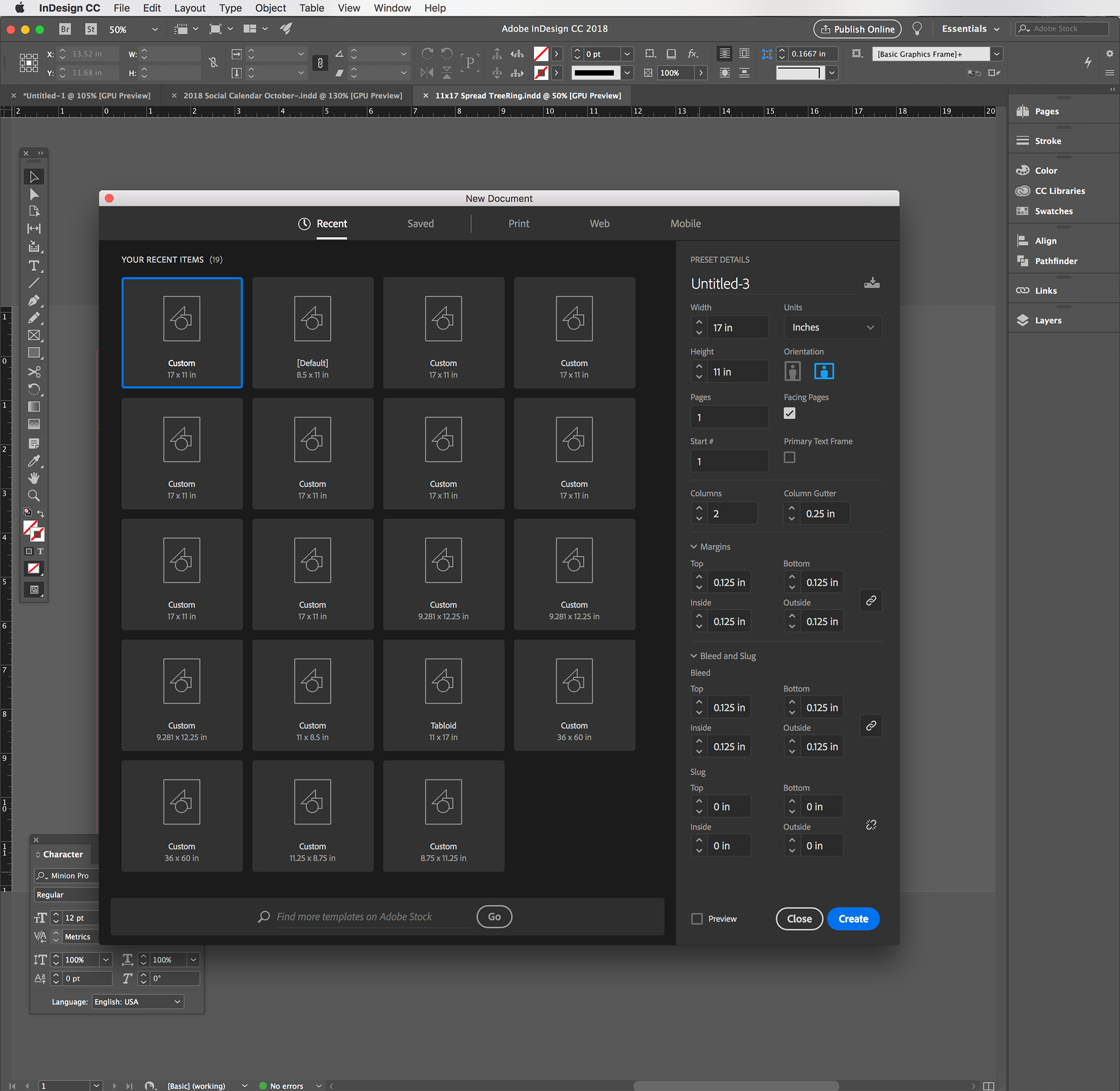 using indesign to create