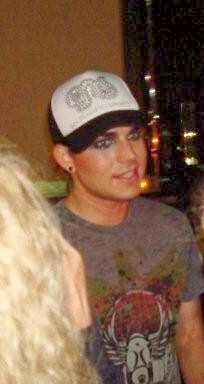 Adam after he signed my picture and stopping to listen to Jan's question