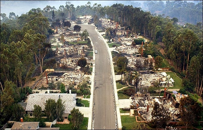Image result for california wildfires burn one house not the other