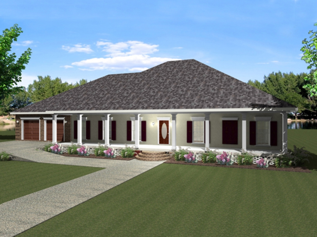 Open One Story House Plans One Story House Plans With