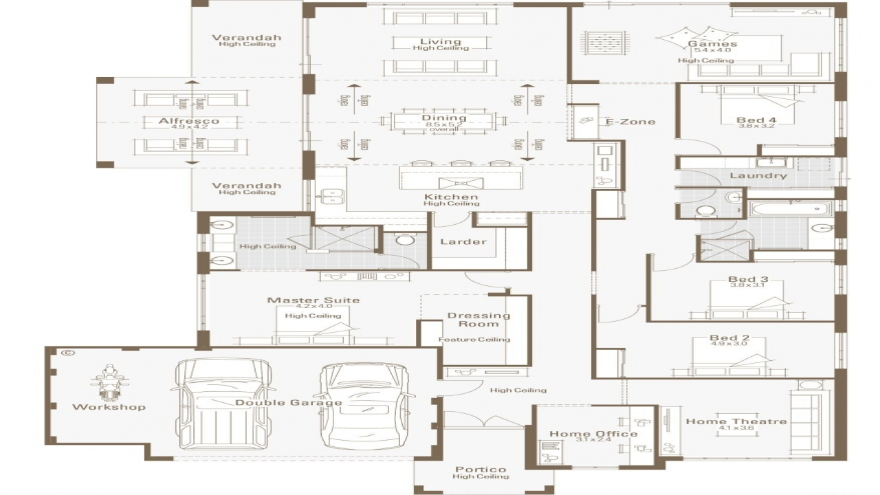 5-Bedroom Modular Home Plans Floor Home House Plans With