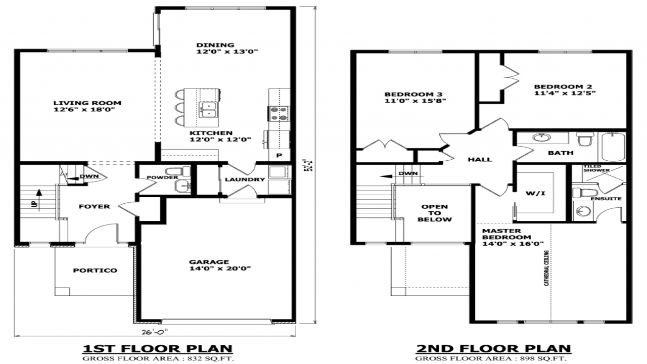 Modern Two Story House Plans Middle Class Modern Two-Story
