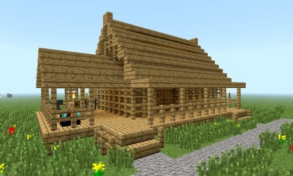 minecraft cool houses skins build simple treesranch