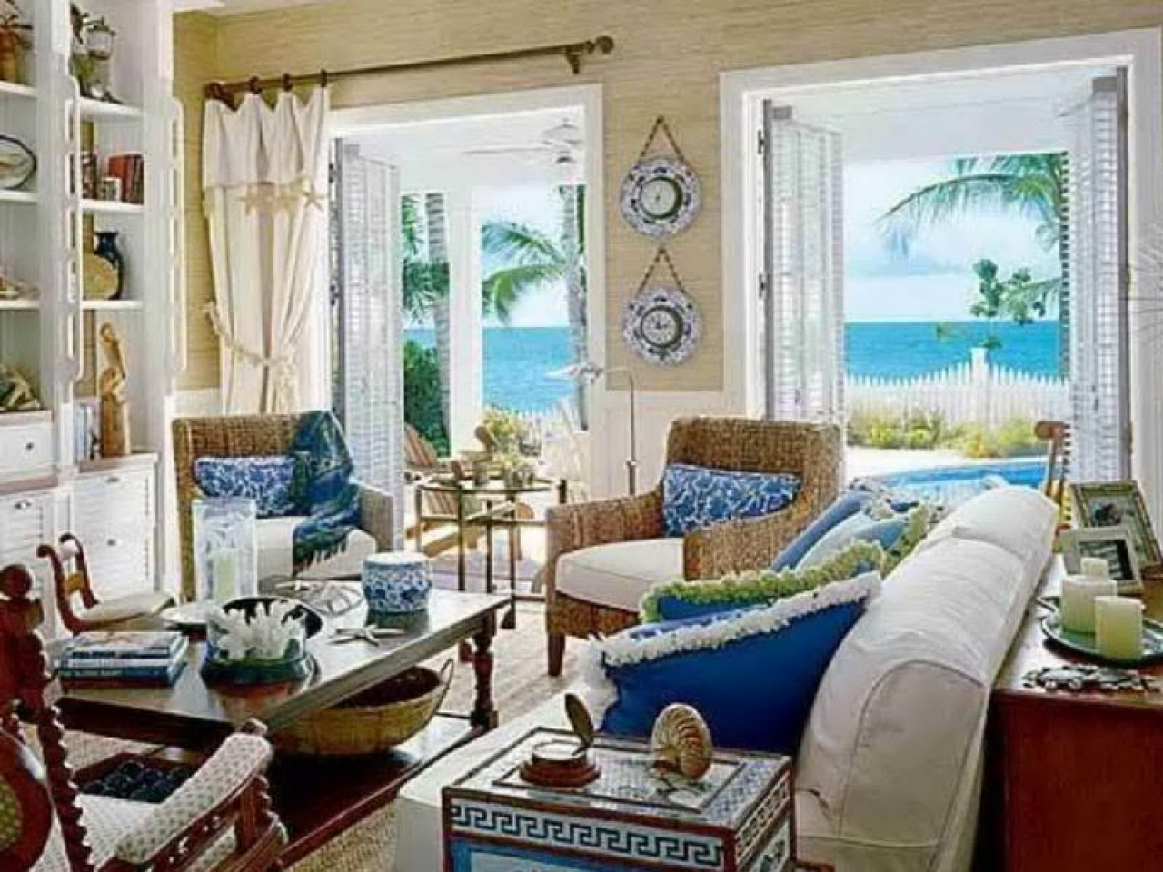 Coastal Living Beach House Style Beach Style Living Room