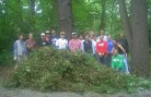 Volunteers work hard to save our parks and forests from English Ivy