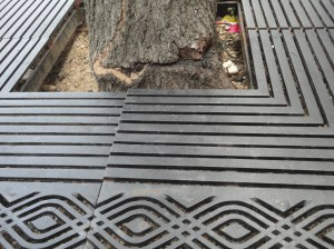 Trunk damage caused before grate was enlarged