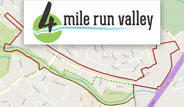four_mile_run_valley_logo_and_map