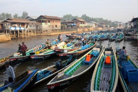 Longtail-båtarnas tilläggsplats