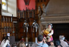 In The Great Hall (16th C) we were served music from the Middle Ages. A fantastic, beautiful and original hall.