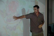 Doug teaching at the esteemed Raffles Girl School, Singapore, 2009