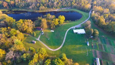 Treasure Lake Drone shot, one of our hosts