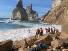 at Praia de Ursa where the wave nearly swallowed us!
