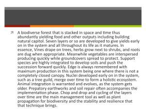 quick description of a food forest