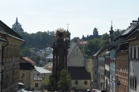 walking through Banska Stiavnica