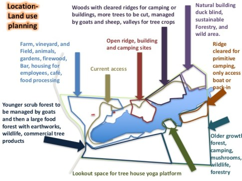 Schematic planning map of Treasure Lake, 2011