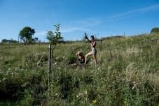 amman and gracja tree planting, photo by Leigh Vukov