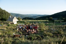 Our class pic after tree planting, photo by Leigh Vukov