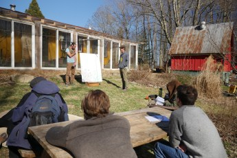 Doug and Ande teaching at Wakethefarmup! Photo credit Chris Smyth